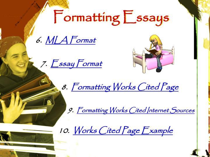 Formatting Essays
