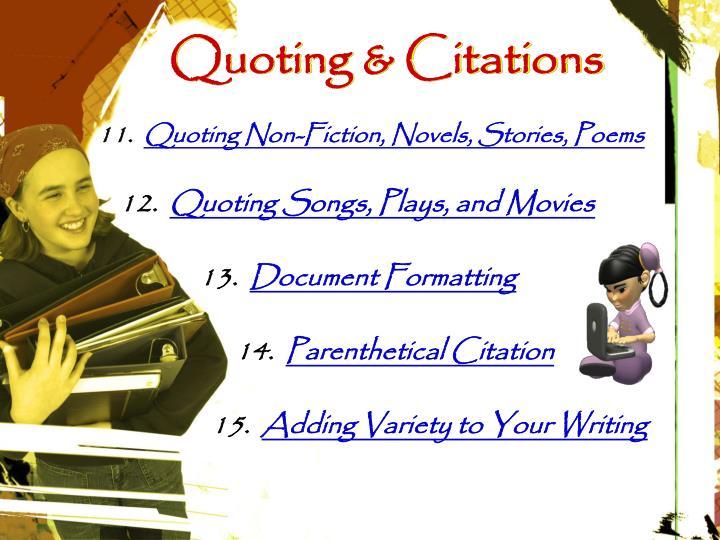 Quoting & Citations