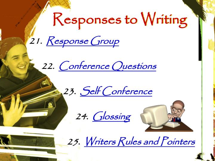 Responses to Writing