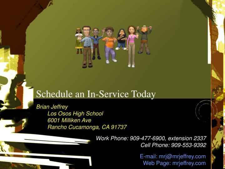 Schedule an In-Service Today