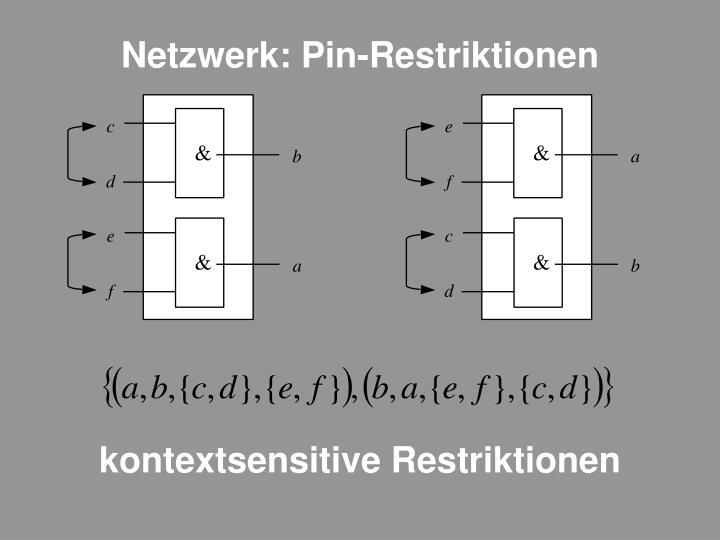 Netzwerk: Pin-Restriktionen