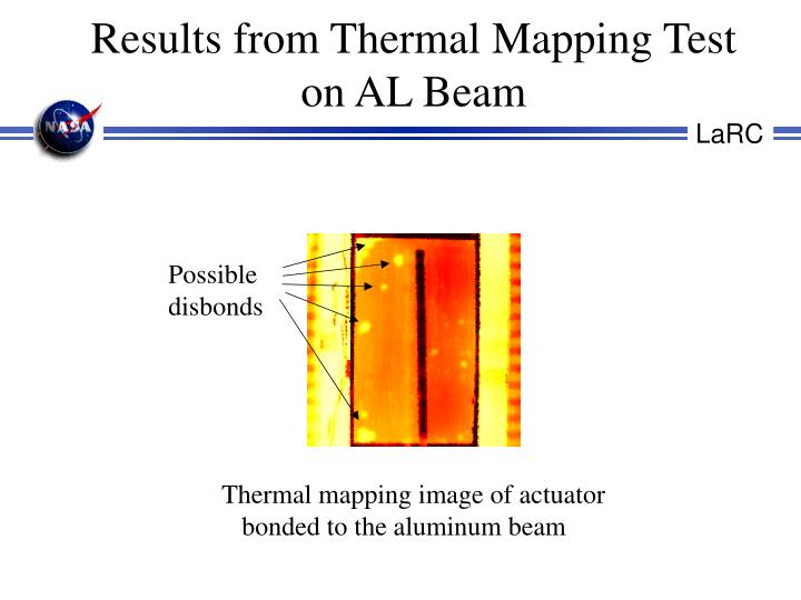 Results from Thermal Mapping Test on AL Beam