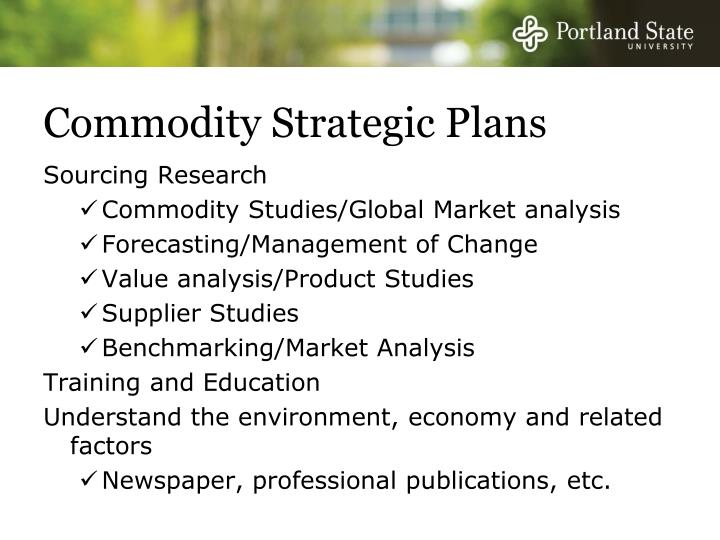 Commodity Strategic Plans