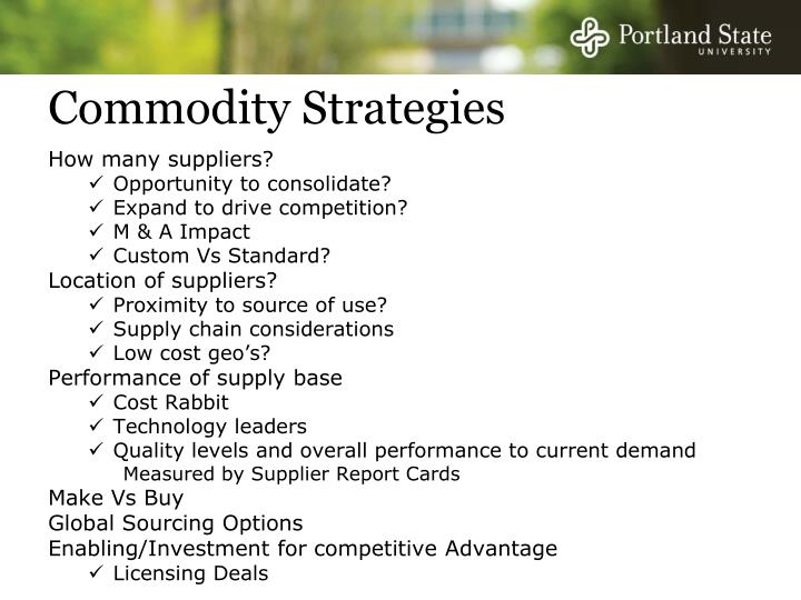 Commodity Strategies