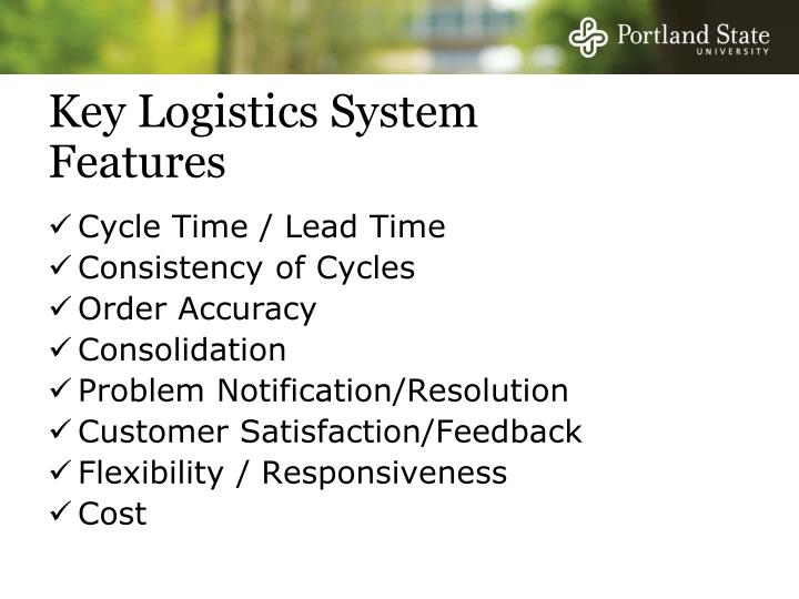 Key Logistics System Features