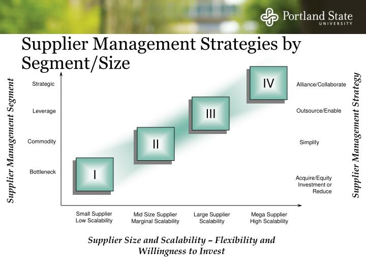 Supplier Management Strategies by Segment/Size