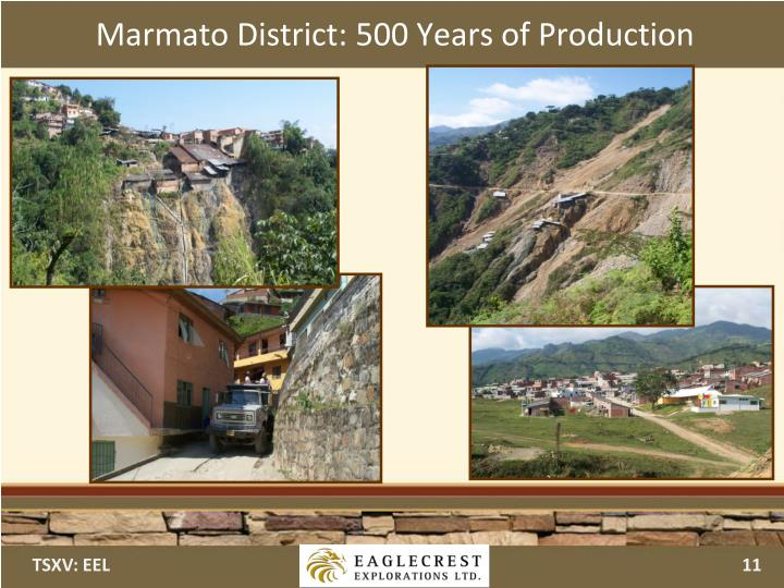 Marmato District: 500 Years of Production