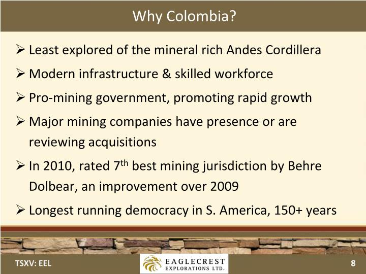 Why Colombia?