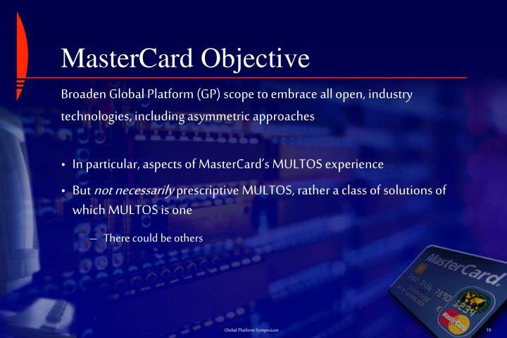 MasterCard Objective