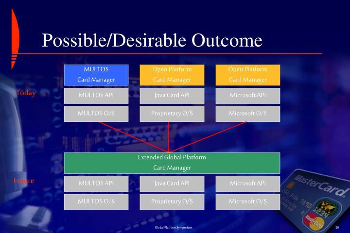 Possible/Desirable Outcome