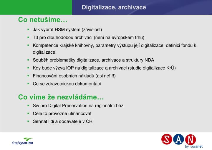 Digitalizace, archivace
