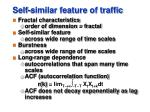 self similar feature of traffic