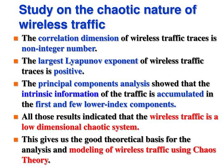 Study on the chaotic nature of wireless traffic