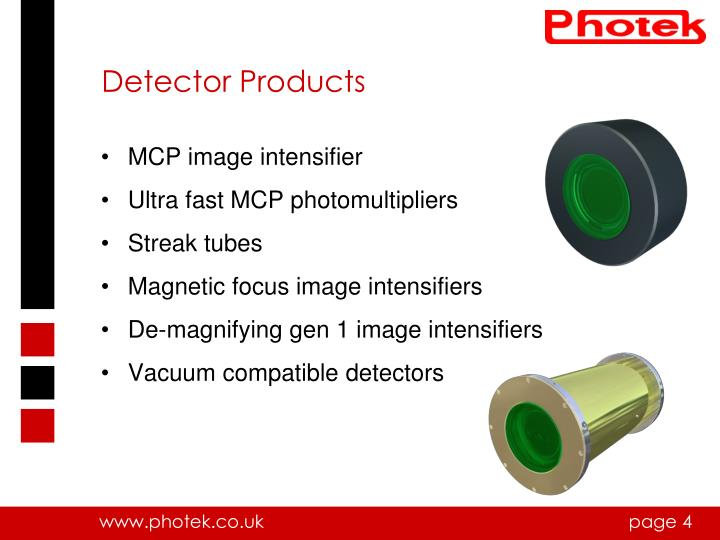 Detector Products