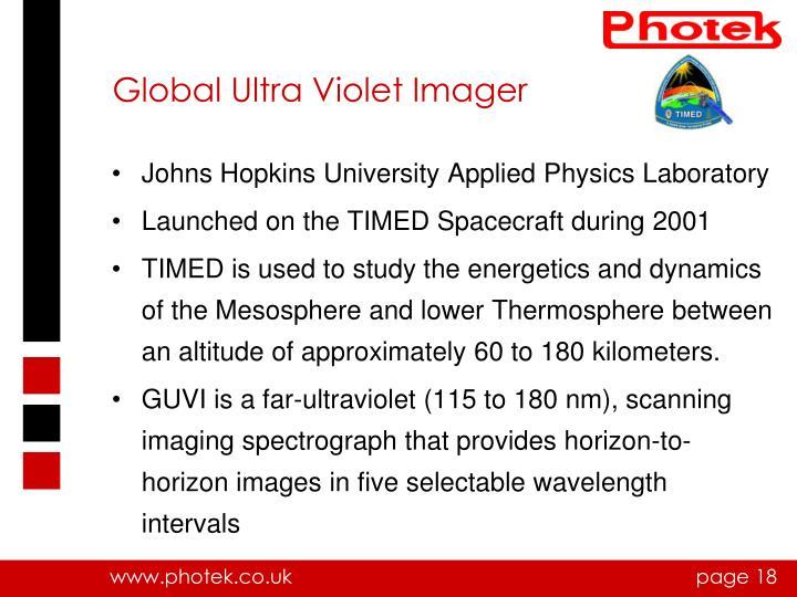Global Ultra Violet Imager