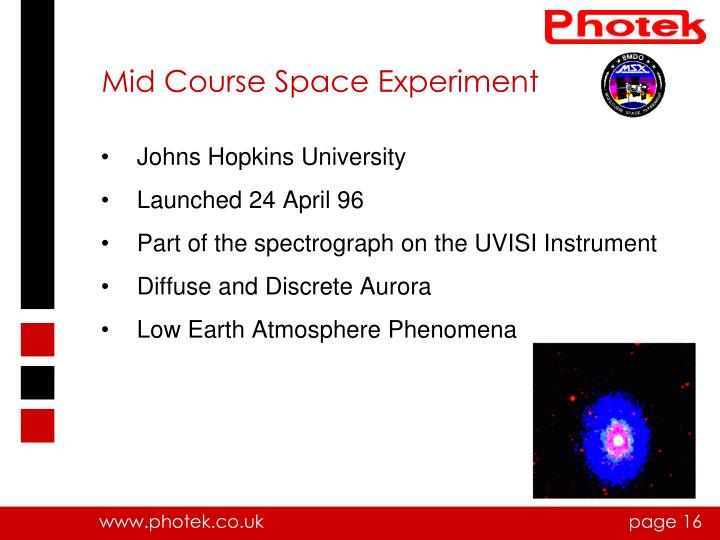 Mid Course Space Experiment