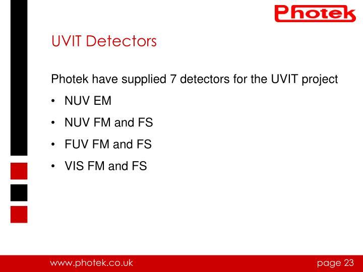 UVIT Detectors