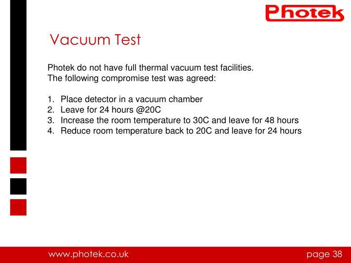 Vacuum Test
