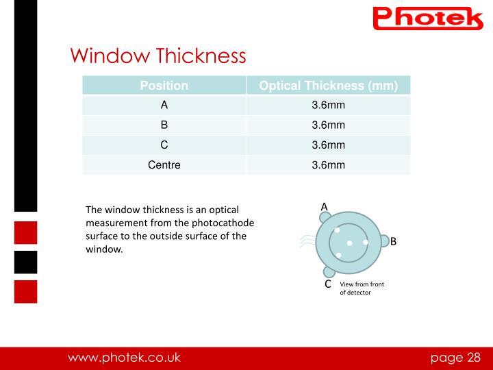 Window Thickness