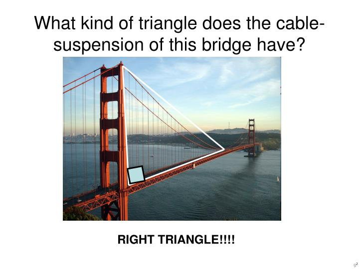 What kind of triangle does the cable-suspension of this bridge have?