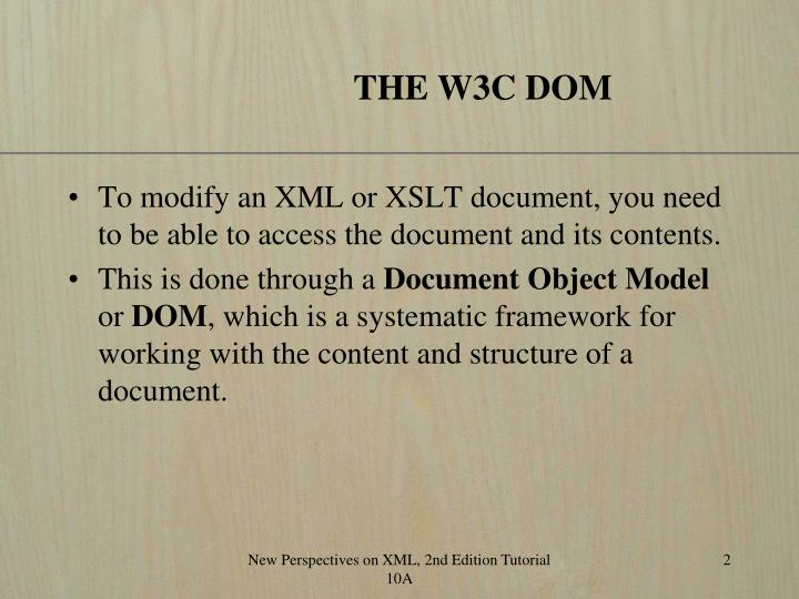 The w3c dom