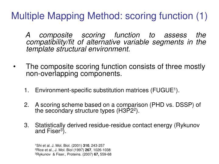Multiple Mapping Method: scoring function (1)