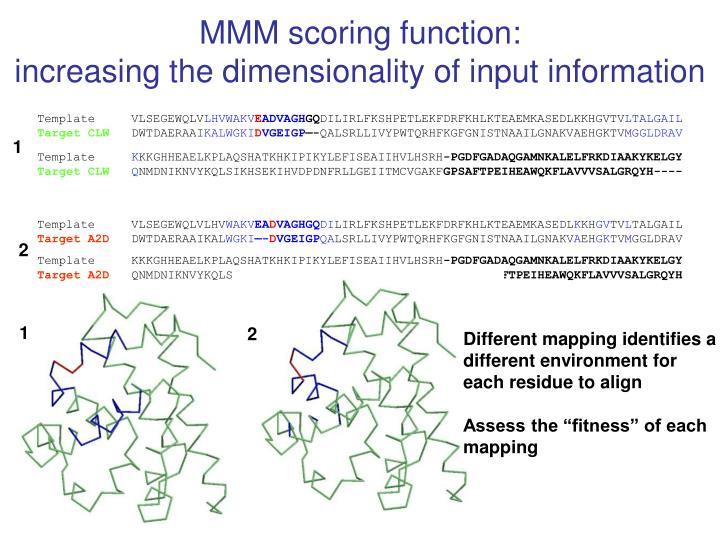 MMM scoring function: