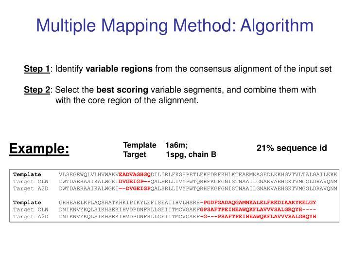 Multiple Mapping Method: Algorithm