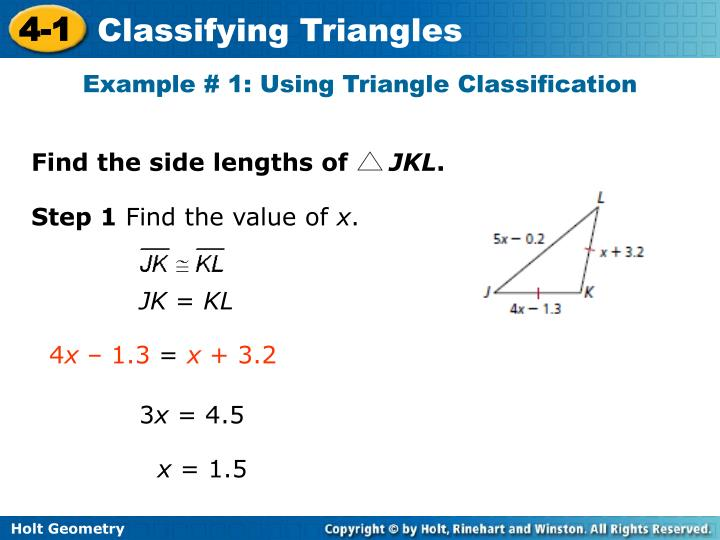Example # 1: Using Triangle Classification