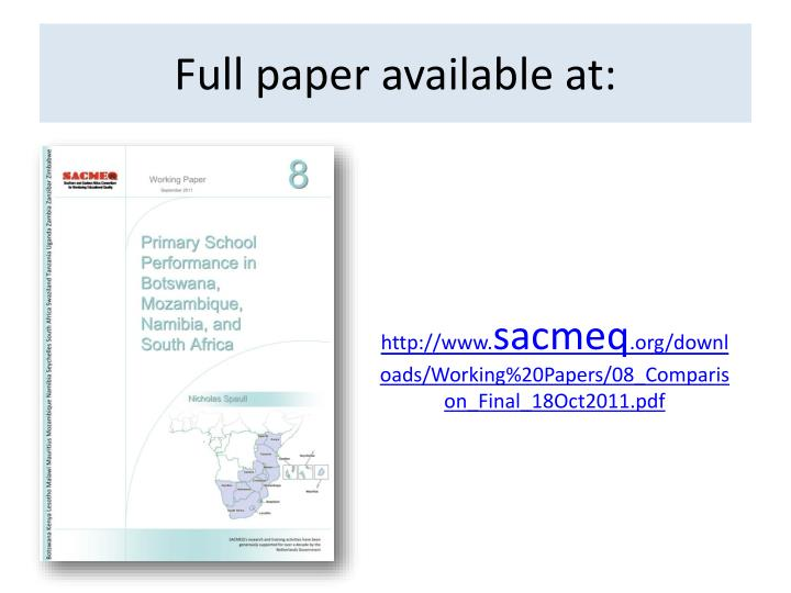 Full paper available at