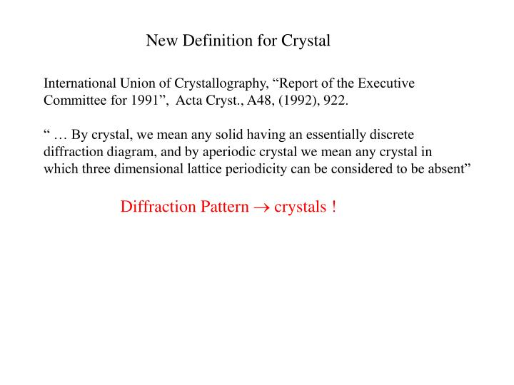 New Definition for Crystal