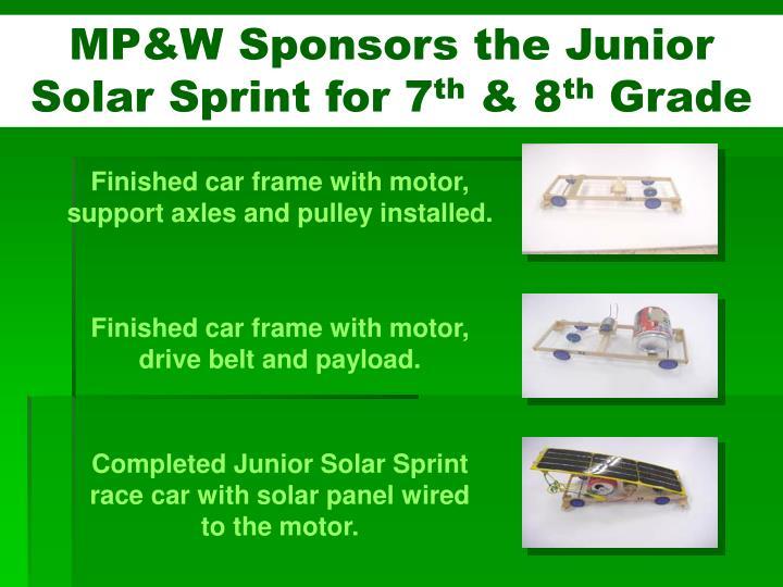MP&W Sponsors the Junior Solar Sprint for 7
