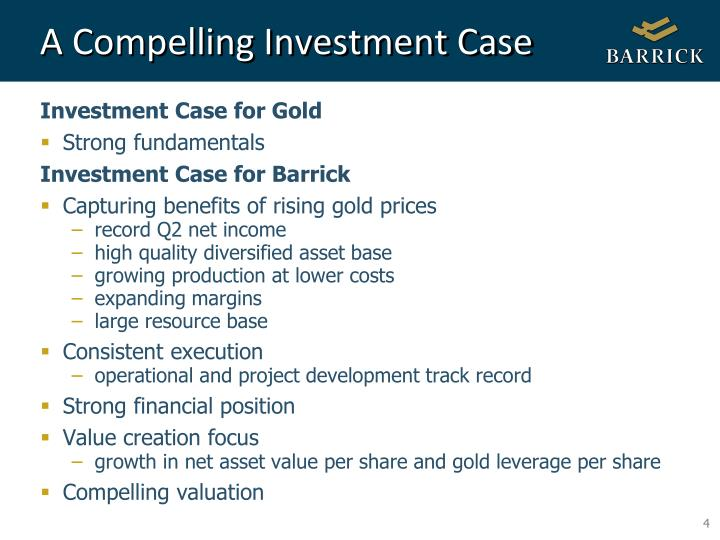 A Compelling Investment Case