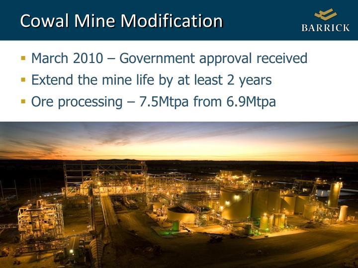 Cowal Mine Modification