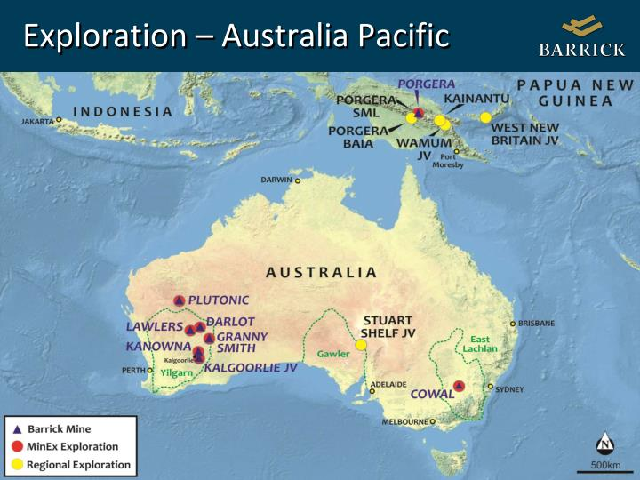 Exploration – Australia Pacific