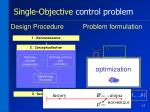 single objective control problem