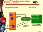 advisor tm rules engine as intelligent information collector