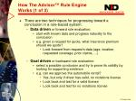 how the advisor rule engine works 1 of 31