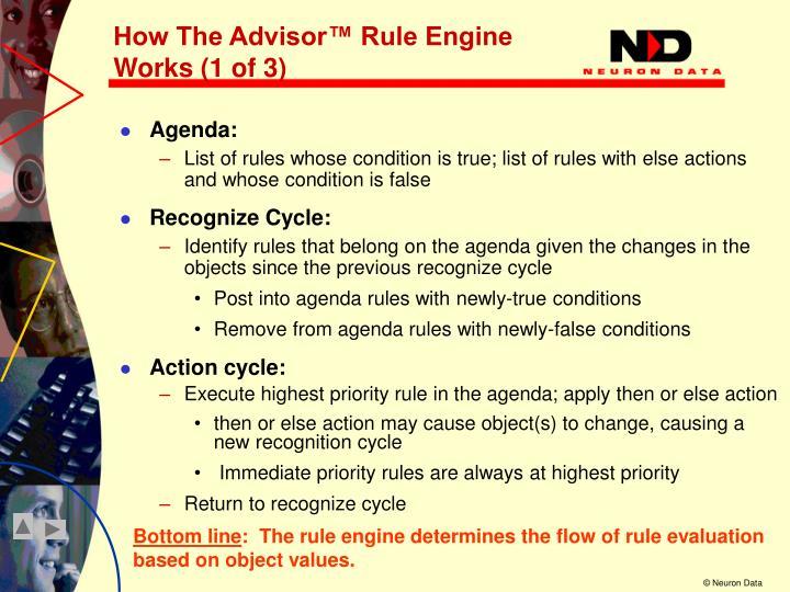 How The Advisor™ Rule Engine Works (1 of 3)
