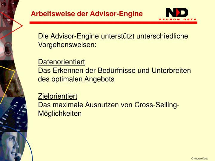 Arbeitsweise der Advisor-Engine