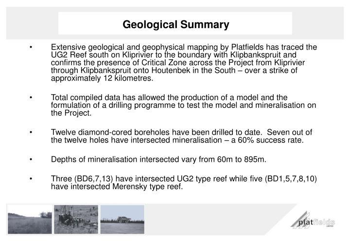 Geological Summary