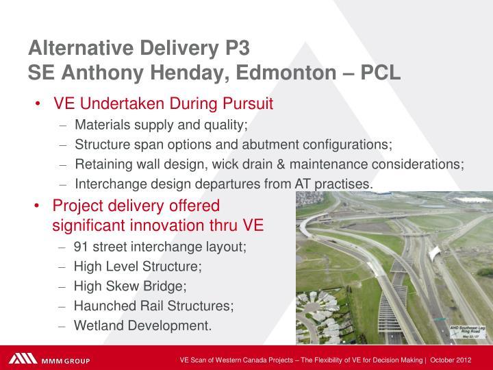 Alternative Delivery P3