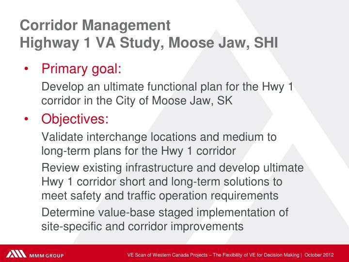 Corridor Management