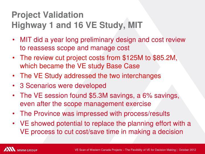 Project Validation