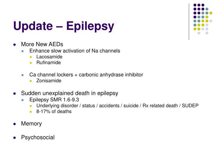 Update – Epilepsy