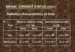 bn 600 current status cont