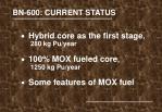 bn 600 current status