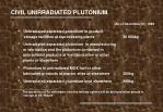civil unirradiated plutonium