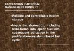 ex weapons plutonium management concept