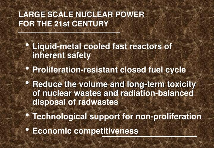 LARGE SCALE NUCLEAR POWER